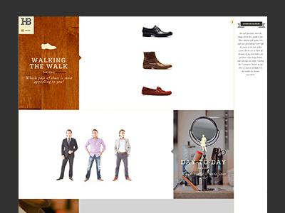 HB Quiz website clothes clothing shirt style plaid fashion web design brand