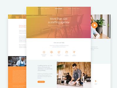 Verve website web design ui recruitment orange interface  layout homepage header grid design