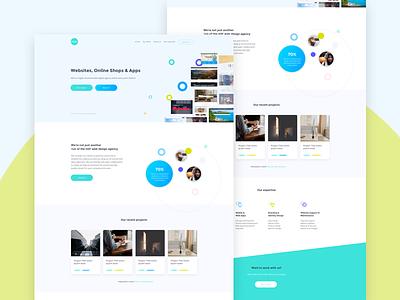 Pixel Homepage pixel studio site colour portfolio design web ux ui startup marketing
