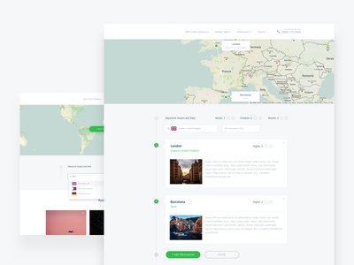 Itinerary builder design app web ux ui landing travel