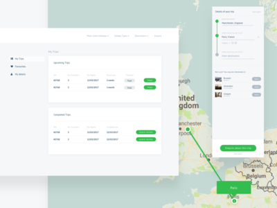 Account and Itinerary builder
