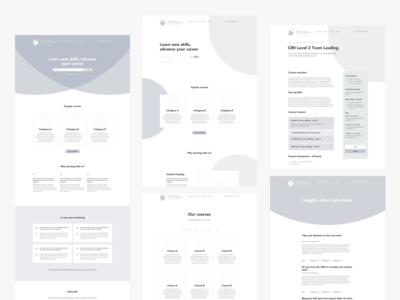Wireframes wireframe website learning ux ui landing homepage home design clean