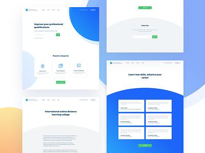Bsbm UI website ux ui learning landing homepage home design clean