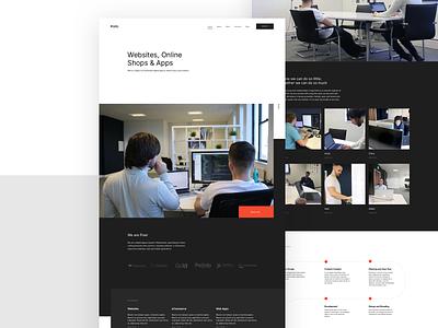 Pixel Refresh ui ux ui design landing page pixel website web ux ui landing interface agency
