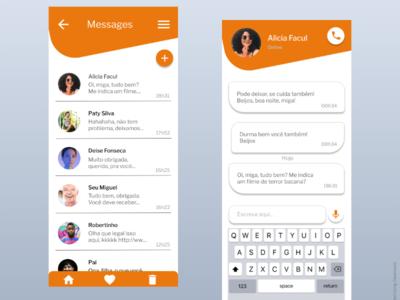 Daily UI #13 message app message talk dm direct messaging messenger app messenger ui user interface dailyui dailyuichallenge design