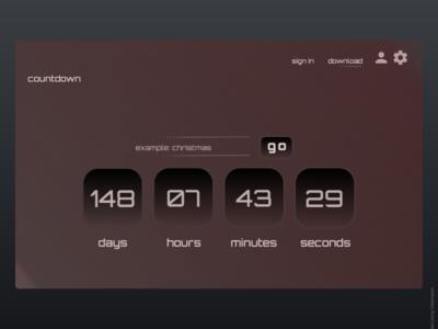 Daily UI #14 countdown timer countdown user interface desktop dailyui dailyuichallenge design