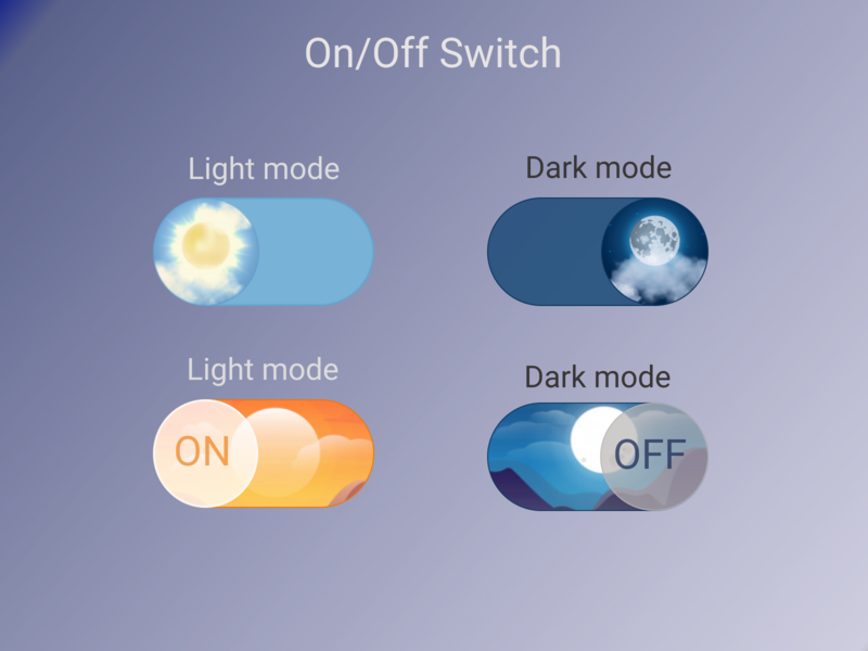 Daily UI #15 dark mode light mode ui dailyuichallenge dailyui design switch off switch on switch button switch