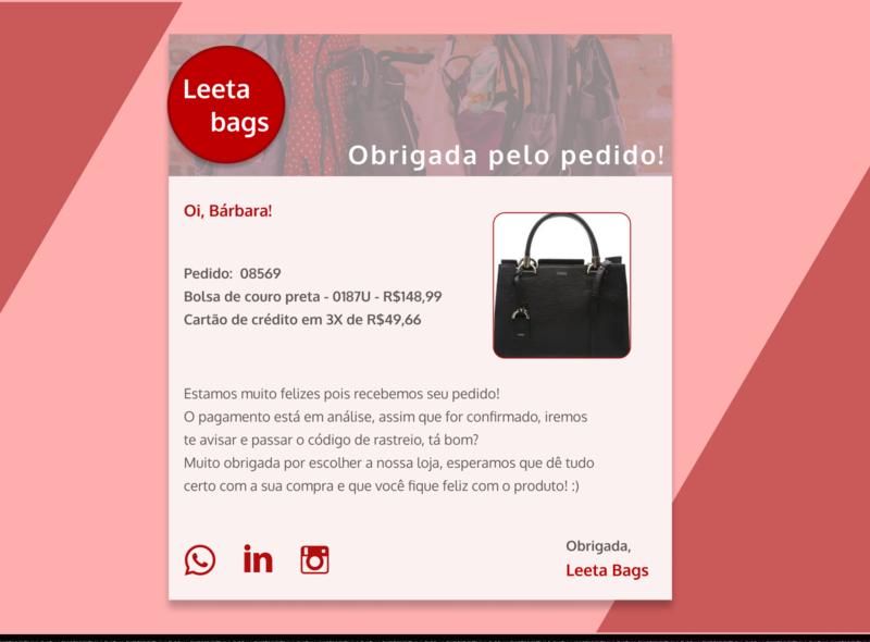 Daily UI #17 email receipt user interface dailyuichallenge dailyui design