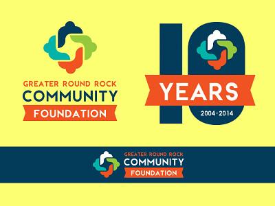 Greater Round Rock Community Foundation Rebrand re-branding logo branding identity community foundation non-profit