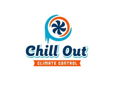 Chill Out Climate Control Logo logo identity branding