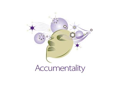 Accumentality Logo neurology brain cells brain mapping research logo branding