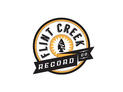 Flint Creek Record Co. record studio music logo branding rebrand