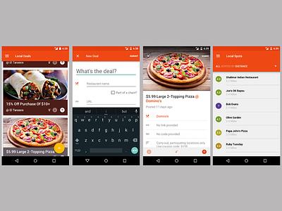 Feed Me visual design food material ux ui android design visual