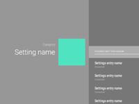 Atv settings menu