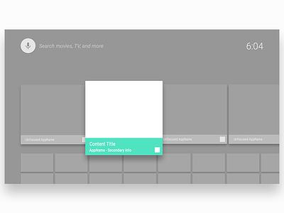 Android TV UI Starter Pack (7 UI Frames) template freebie uiux frames ui android tv tv android
