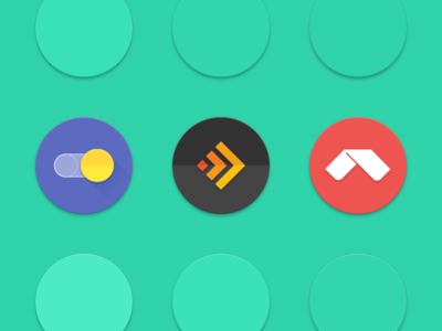 Android 7.1 round icon Sketch template