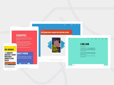 Dadapixel web redesign teal yellow red redesign web design code web