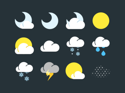 Unused weather icon concepts
