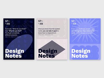 Design Notes x SP—AN 2018 Poster Series illustration google design google span18 interview notes design podcast series poster