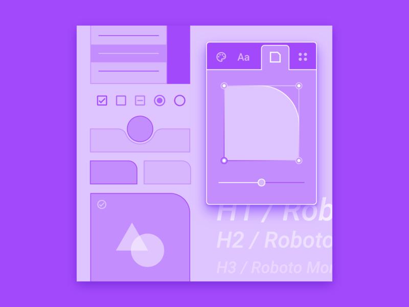 Theme Editor illustration for Material.io illo theming theme material design materialdesign material illustration