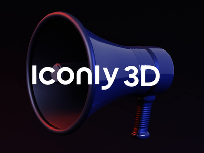 Iconly 3D motion lights icon set icon trashcan speaker wallet dark lighting animation motiongraphics motion design motion iconly flashlight flash kit branding minimal blender 3d