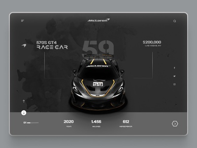 Mclaren modern design unique design uiux design racing cars car web design cars sportscar sports