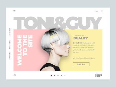 Toni&Guy booking ecommerce store ui shopify store shopify website shopify ui web design website landing landing page homepage webdesign barber shop