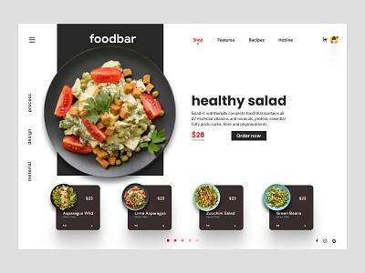 Foodbar food app modern interface ui webdesign landing website branding homepage landingpage web landing page web design food