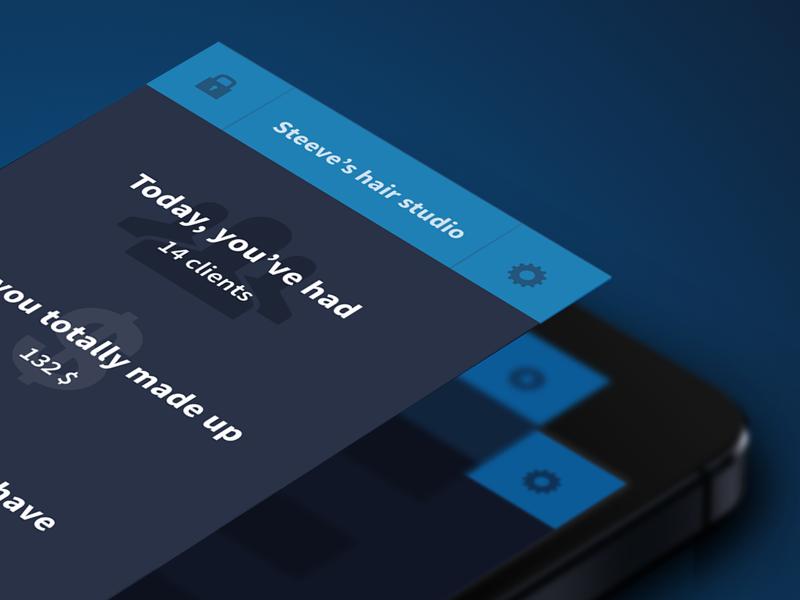 Clients iOS App ios clients app application flat flatdesign