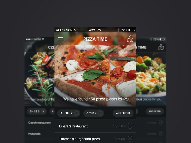 Pizza Time Application pizza time application food app ios