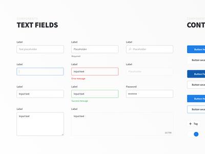 Light & Air UI Kit - Text Fields and Buttons dashboard ui kit button buttons text fields