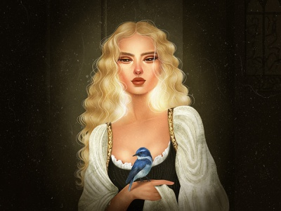 Adelen - Victorian style girl character womanart renaissance portrait photoshop art photoshop illustration