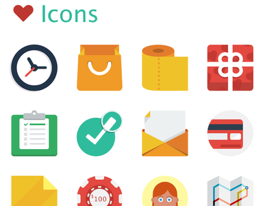 Love Icons sketch icon