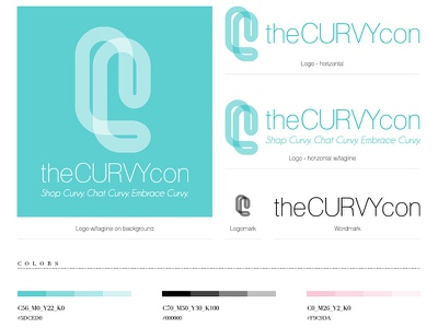 theCURVYcon style guide style guide branding identity logo