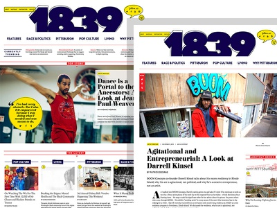 1839mag.com identity branding creative direction wordpress website ui responsive web design