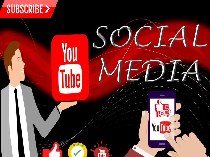 social media photoshop like share youtube design illustrator person socialmedia