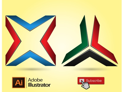 Adobe illustrator Tutorials - How To Make 3D 2Logo Design illustrator ilus branding logo graphic design