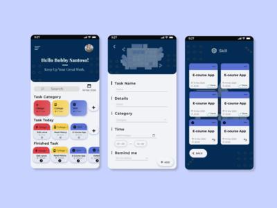 UI Task Manager Mobile App mobile app design task task management app ui task manager