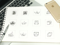 Squareboat Rebranding - Early Logo Sketches