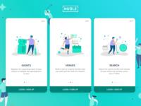 Hudle - App Onboarding Screens