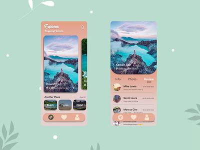 Explorer Banyuwangi Indonesia indonesia explorer ux design ux ui ux design ui design ui mobile app app