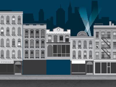 Drbl 13014 background streetscape building illustration architecture vector texture