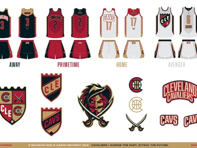 Cavs cavaliers lebron basetball sports cleveland identity uniforms branding