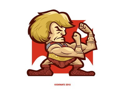 Fightin' Masters v2 motu masters of the universe action figure illustration he-man mascot