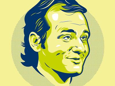 Bill Murphy, Ladies & Gentlemen. film tv movies television portrait print vector illustration screen print poster bill murray legend hero comedy gallery