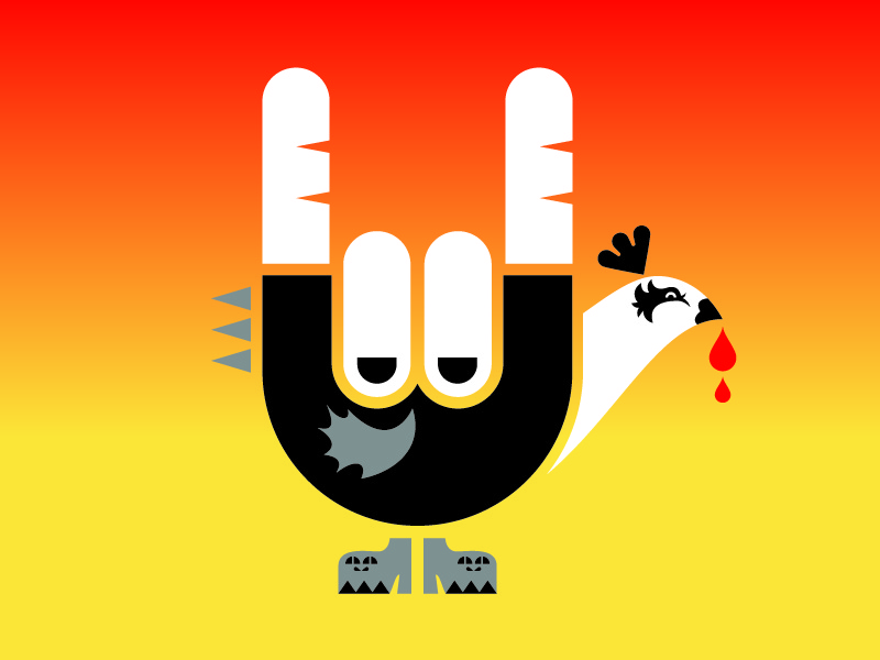 Happy T-Day bird illustration vector holiday turkey hand thanksgiving podcast