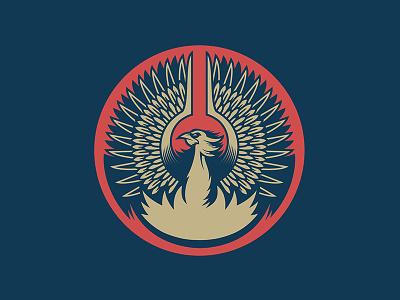 Phoenix badge wings comp bird branding logo