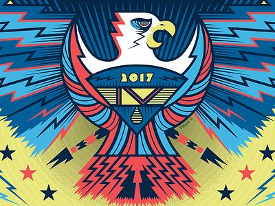 Spring Fling music bird print eagle fest pop punk emo