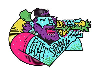Phat Sammy's vector illustration sandwich snacks branding mascot