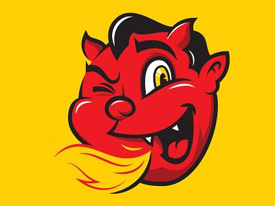 Devil Baby cherub fire illustration character devil